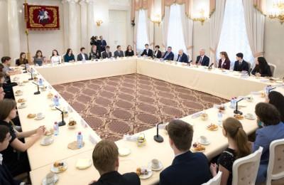 Мэр Москвы Сергей Собянин встретился с московскими школьниками — победителями