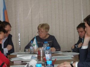 Зинаида Гусакова на заседании Совета депутатов