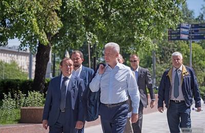 Мэр Москвы Сергей Собянин осмотрел завершившиеся работы по реконструкции Октябрьского тоннеля