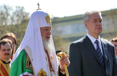 Сергей Собянин принял участие в освещении храма святого Владимира в Москве