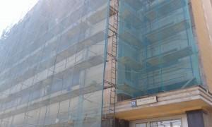 Ремонт фасада здания по адресу Люсиновская, д. 70
