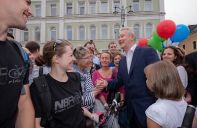 Мэр Москвы Сергей Собянин открыл улицу Большая Ордынка после ремонта