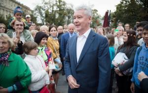 Мэр Москвы Сергей Собянин осмотрел площадку фестиваля на Тверской площади