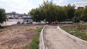 Ремонтные работы в районе дома № 128 на Варшавском шоссе
