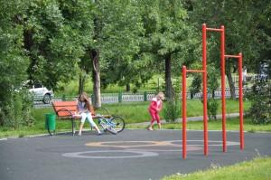 В одном из дворов района Орехово-Борисово Северное