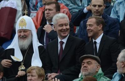 Сергей Собянин поздравил горожан вместе с Дмитрием Медведевым