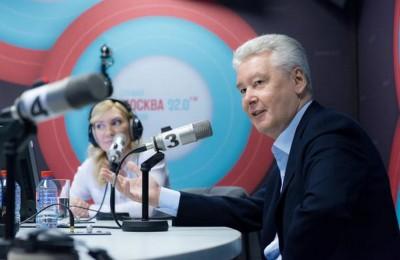"""Мэр Москвы Сергей Собянин выступил сегодня в эфире радио """"Москва FM"""""""