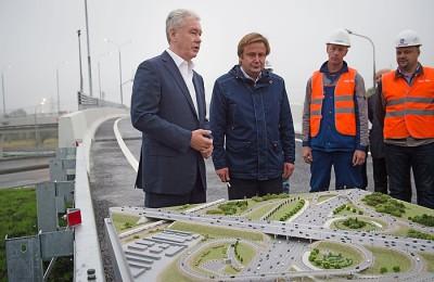 Мэр Москвы Сергей Собянин открыл новую эстакаду на юго-востоке города