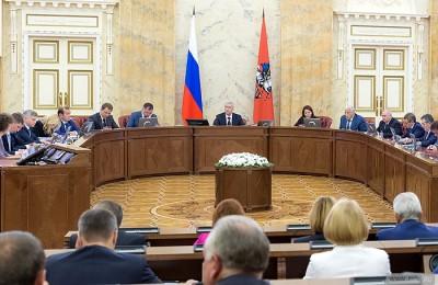 Сегодня мэр Москвы Сергей Собянин провел заседание Правительства