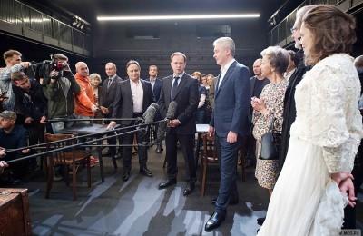 Сегодня мэр Москвы Сергей Собянин открыл новую сцену в театре Вахтангова