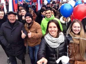 В праздничном шествии принял участие префект ЮАО Алексей Челышев