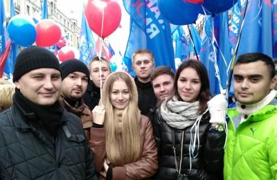 Молодежная палата района Орехово-Борисово Северное 4 ноября приняла участие в праздничном шествии