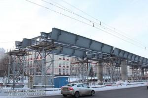 Строительство эстакады на Липецкой улице