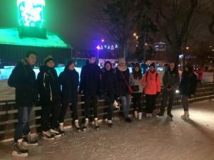 """Студенты колледжа """"Царицыно"""" на катке в Парке Горького"""