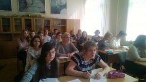 Студенты колледжа имени Карла Фаберже на уроке