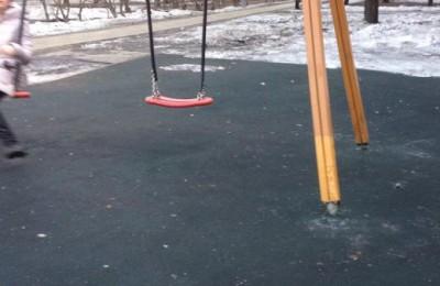 Детская площадка после ремонта