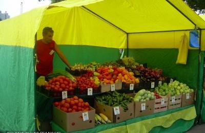 Палатка с овощами и фруктами в районе Орехово-Борисово Северное