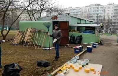Субботник в районе Орехово-Борисово Северное
