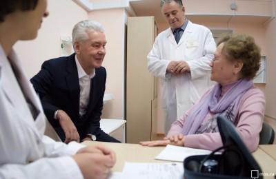 Мэр Москвы Сергей Собянин в поликлинике