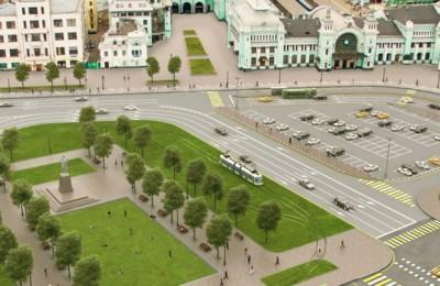 Проект строительства трамвайных путей на площади Тверская Застава