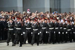 Репетиция парада кадет