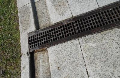 Отремонтированный водосток