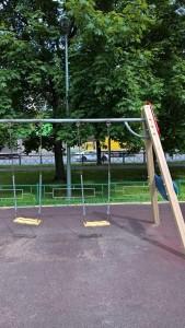 Отремонтированная детская площадка