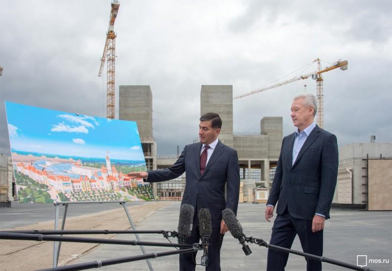 Мэр Москвы Сергей Собянин оценил строительные работы парка «Остров мечты»