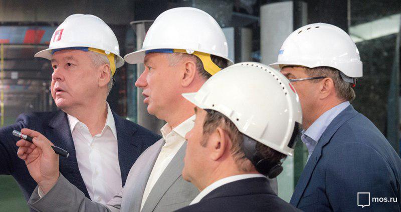 Мэр Москвы Сергей Собянин посмотрел строительные работы на станции метро «Мичуринский проспект»