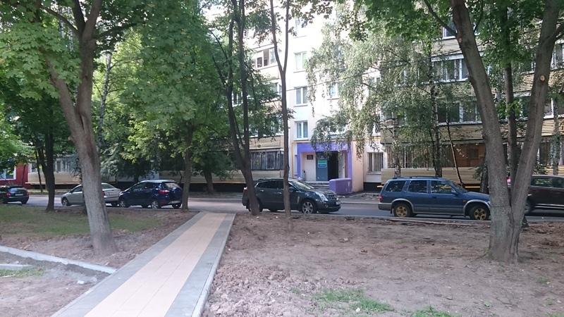 Благоустройство на Ореховом бульваре