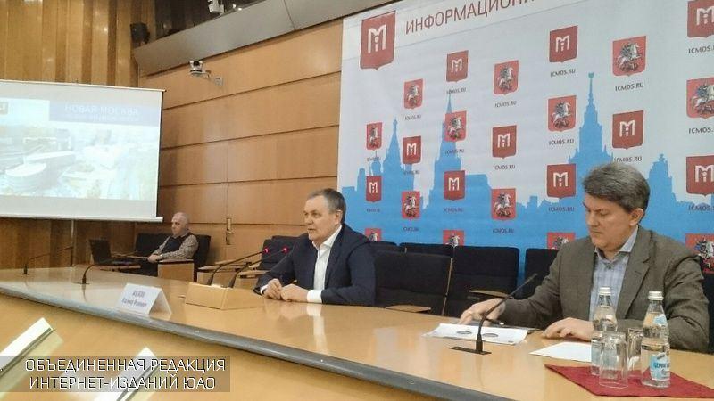 Пресс-конференция руководителя Департамента развития новых территорий Москвы Владимира Жидкина