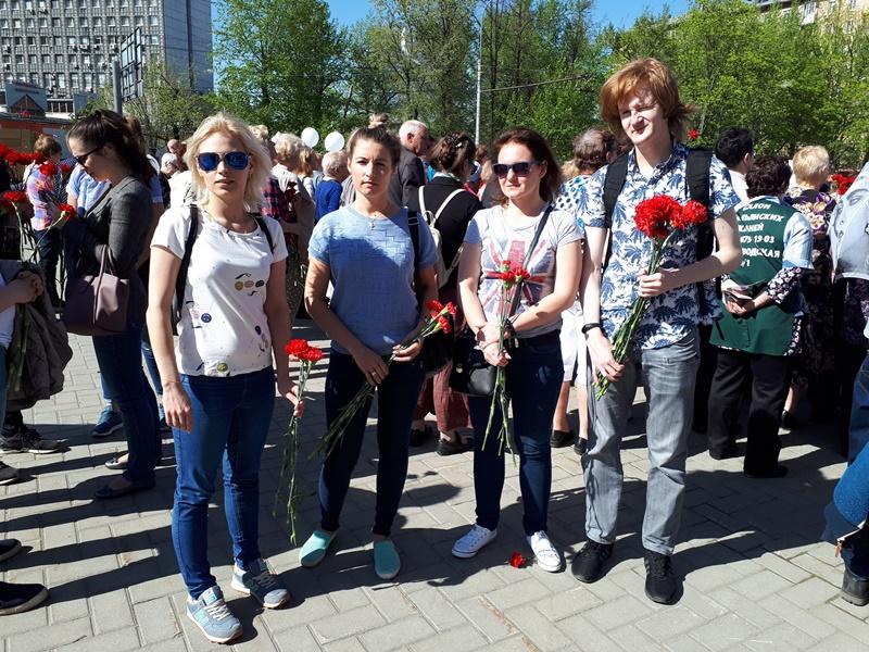 Молодежная палата района на акции памяти