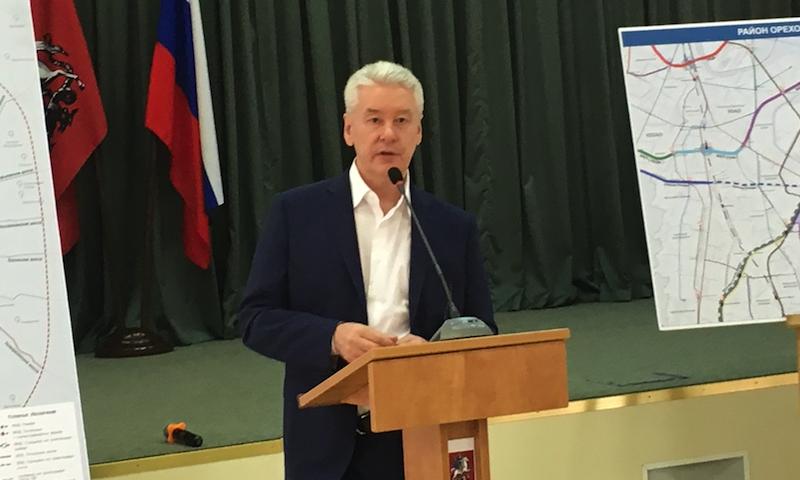 Сергей Собянин на встрече с жителями