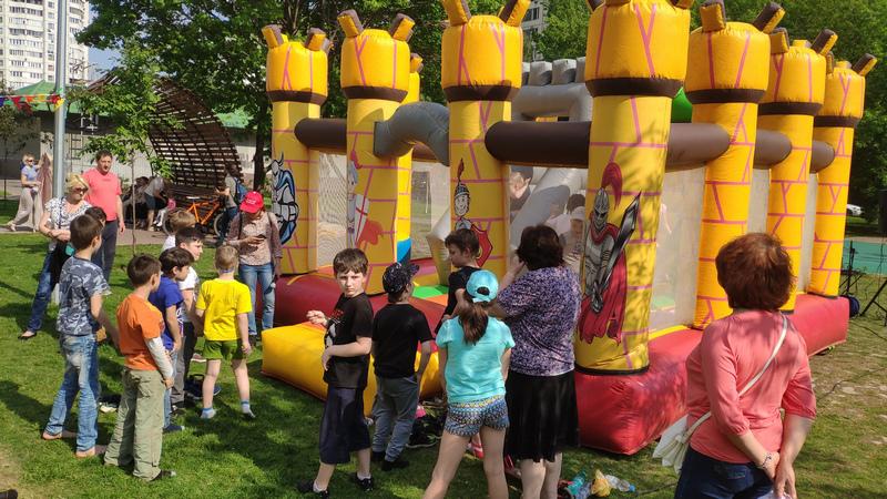 Спортивный праздник, детская площадка на Каширском шоссе, Молодежная палата, Нина Клюева (1)