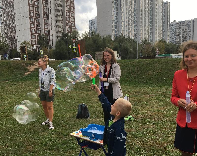 ТЦСО Орехово, мыльные пузыри, дети, интерактивное занятие, Борисовские пруды