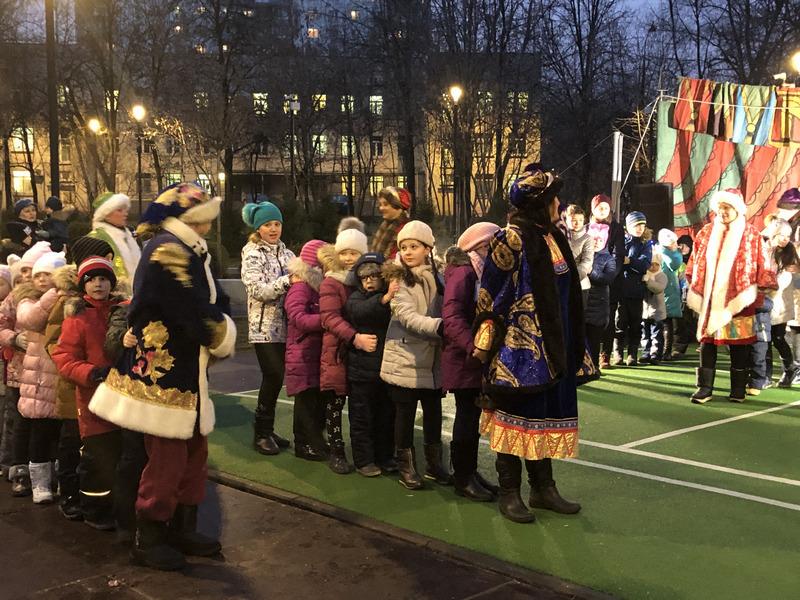 Уличные гуляния, Шипиловский сквер,Новогодняя сказка