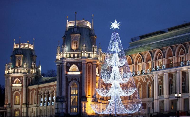 Хрустальная елка в Царицыне новый год