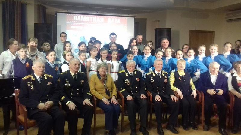 встреча ветеранов флота с кадетами школы 939 групповой снимок